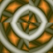 Background fabric ornaments green_orange
