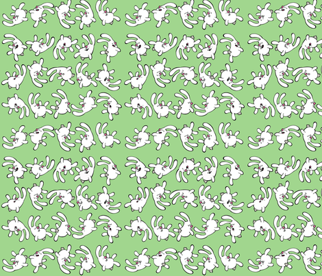 Floating Bunnies fabric by wackyshorts on Spoonflower - custom fabric