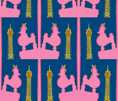 Lil' Pinki does Paris by Night  fabric by susaninparis on Spoonflower - custom fabric