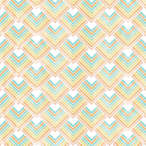 Pointed Scales (pastel) fabric by leighr on Spoonflower - custom fabric