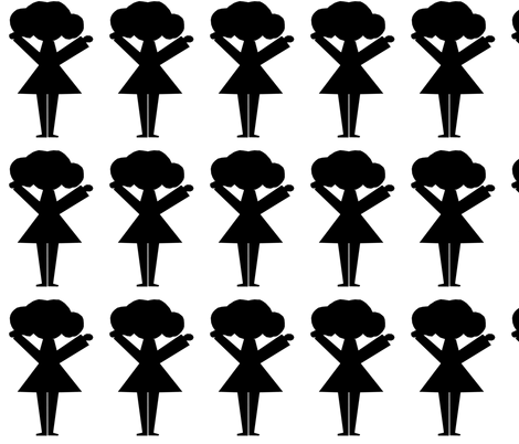 Girl in Black fabric by sew_delightful on Spoonflower - custom fabric