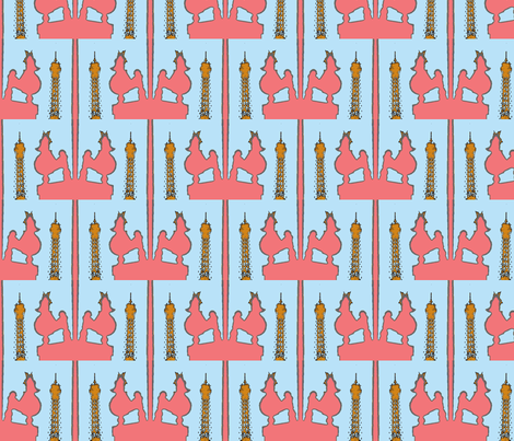Lil' Pinki does Paris in the Spring Time fabric by susaninparis on Spoonflower - custom fabric