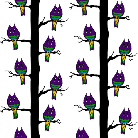 Monster Birds fabric by pond_ripple on Spoonflower - custom fabric