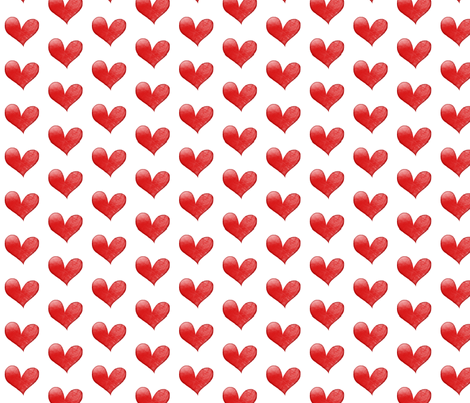 A 1 February 2011 - Hearts fabric by rupydetequila on Spoonflower - custom fabric
