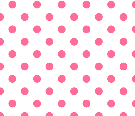 White with Pink Polka Dots fabric by babydobbins on Spoonflower - custom fabric