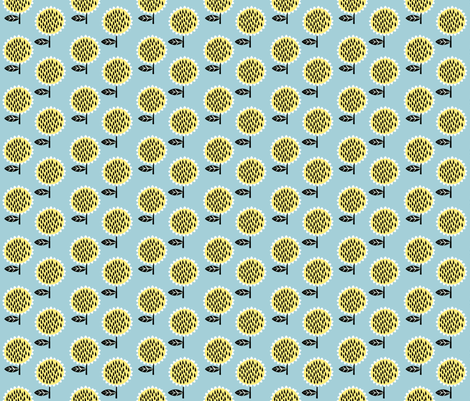sunflowers fabric by anda on Spoonflower - custom fabric