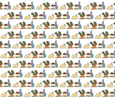 Year of the Rabbit-ed fabric by krihem on Spoonflower - custom fabric