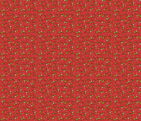 Little xmas - red fabric by catru on Spoonflower - custom fabric