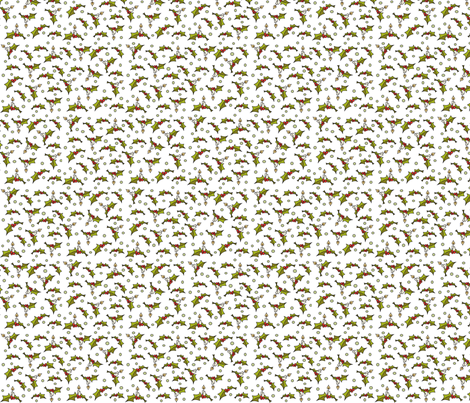 Little Xmas - white fabric by catru on Spoonflower - custom fabric