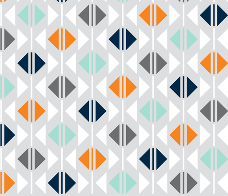 Open and Close: Carrots and Mint fabric by nadiahassan on Spoonflower - custom fabric