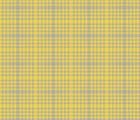 pixelated_houndstooth_mustard fabric by missmudkip on Spoonflower - custom fabric
