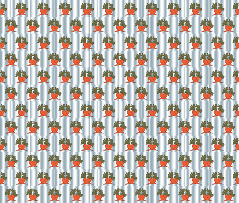 carrot border fabric by krihem on Spoonflower - custom fabric