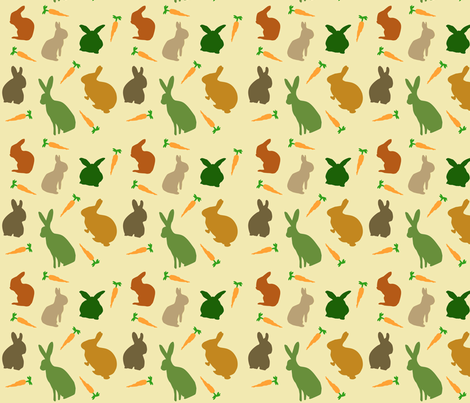 Multiplyin' Like Bunnies fabric by beingreen on Spoonflower - custom fabric