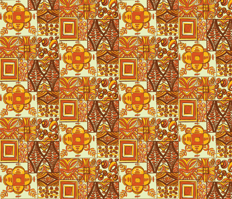 Mana Mohala earth fabric by sophista-tiki_by_dawn_frasier on Spoonflower - custom fabric