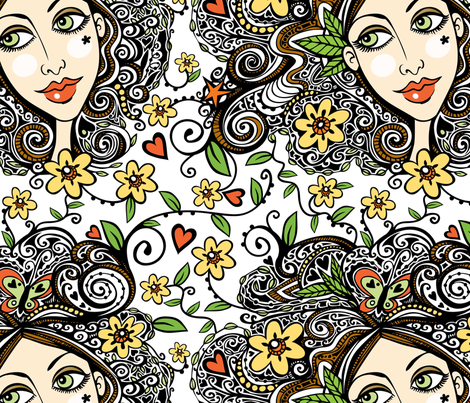 Julia fabric by tessiegirldesigns on Spoonflower - custom fabric