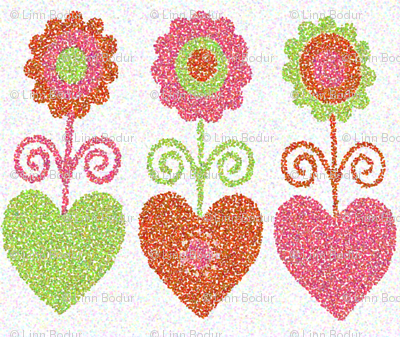 pointillism_flowers
