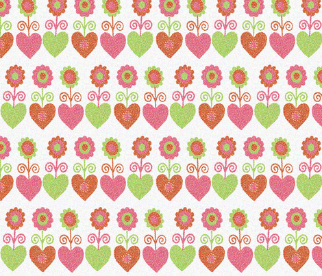 pointillism_flowers fabric by snork on Spoonflower - custom fabric