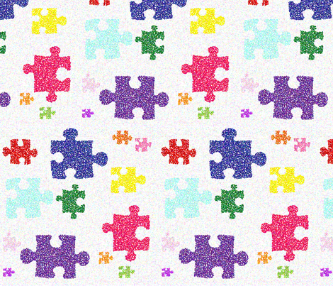 pointillised_puzzle fabric by snork on Spoonflower - custom fabric
