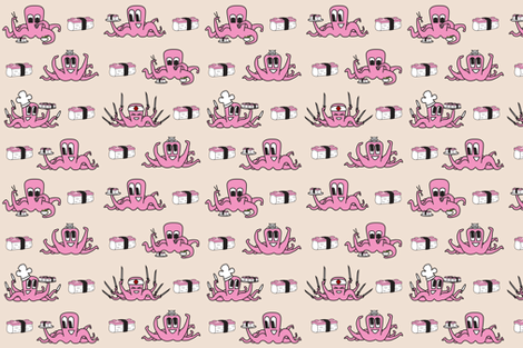 It's a Squid Eat Squid World fabric by chad on Spoonflower - custom fabric