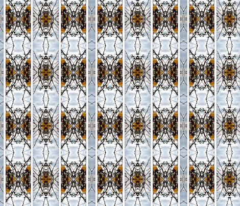 Wild roses cathedral fabric by ravynka on Spoonflower - custom fabric