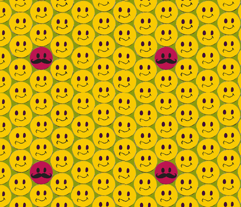 Smiley-dots fabric by stephen_of_spoonflower on Spoonflower - custom fabric