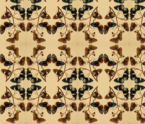Vintage butterflies fabric by ravynka on Spoonflower - custom fabric