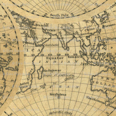 hemisphere world -1830