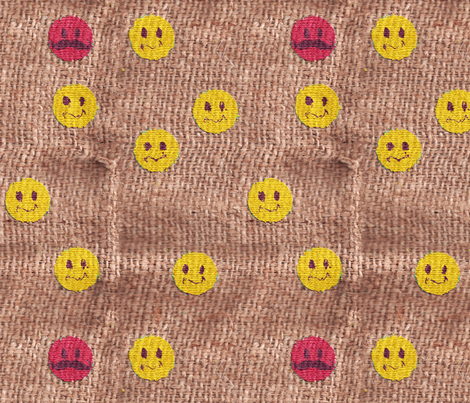 Happy Burlap fabric by stephen_of_spoonflower on Spoonflower - custom fabric