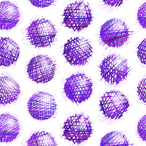 sketchy dots - purple on white fabric by ravynka on Spoonflower - custom fabric