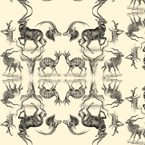 Antelopes fabric by ravynka on Spoonflower - custom fabric