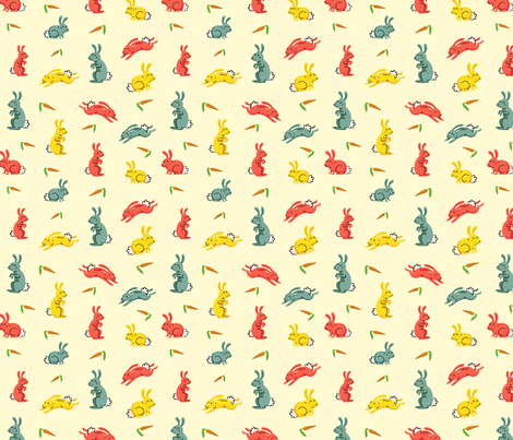 Rabbits of the Year fabric by dpsullivan on Spoonflower - custom fabric