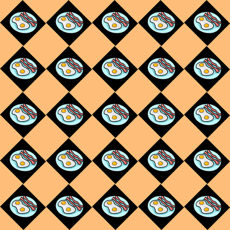 Bacon & Eggs Argyle fabric by sherryann on Spoonflower - custom fabric