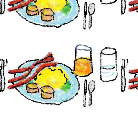 breakfast-ed fabric by frances_hollidayalford on Spoonflower - custom fabric
