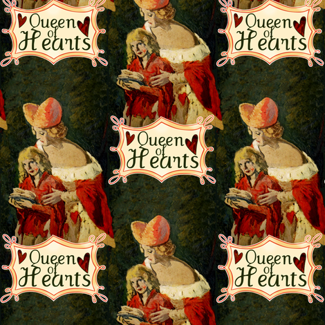 Queen of Hearts fabric by paragonstudios on Spoonflower - custom fabric