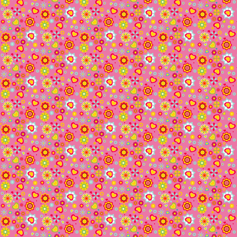 (Spoon)Flower Power! | pink fabric by irrimiri on Spoonflower - custom fabric