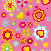 (Spoon)Flower Power! | pink