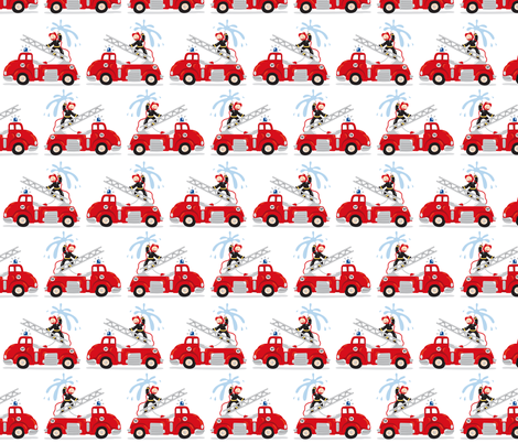 firetrucks fabric by verycherry on Spoonflower - custom fabric