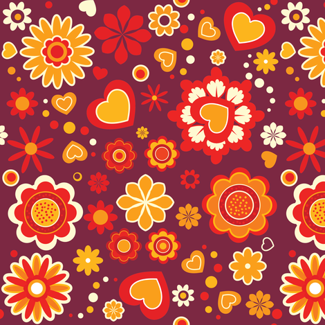 (Spoon)Flower Power! | retro fabric by irrimiri on Spoonflower - custom fabric