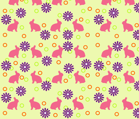 rabbit fabric by cveta on Spoonflower - custom fabric
