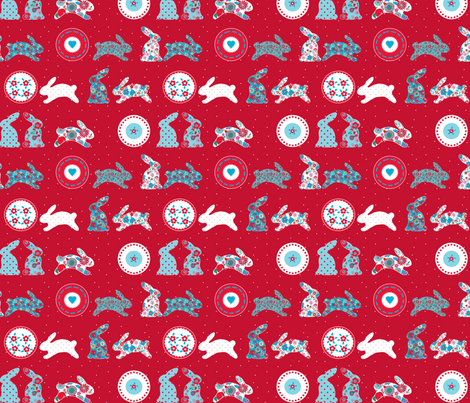 lapin_v2 fabric by nadja_petremand on Spoonflower - custom fabric