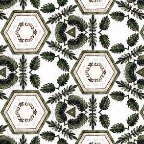 Medieval foliage tile