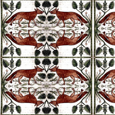 medieval fox fabric by ravynka on Spoonflower - custom fabric