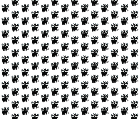 A 3 February 2011 - Mother and baby cat fabric fabric by rupydetequila on Spoonflower - custom fabric