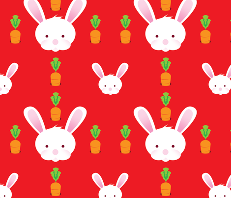 Rabbit_Fabric fabric by mingyminge on Spoonflower - custom fabric
