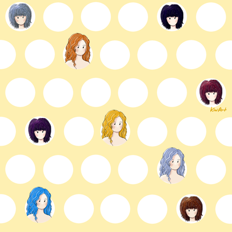 Girl Power fabric by kiniart on Spoonflower - custom fabric