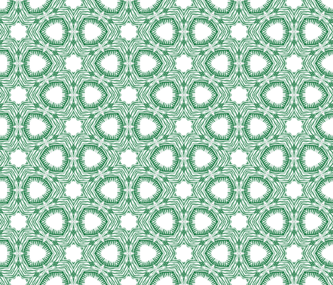 green doodle tile fabric by ravynka on Spoonflower - custom fabric