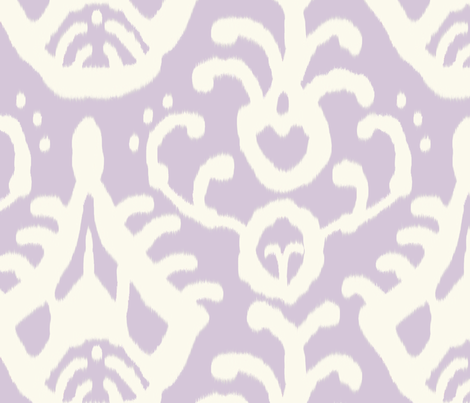 Lavender ikat  fabric by domesticate on Spoonflower - custom fabric