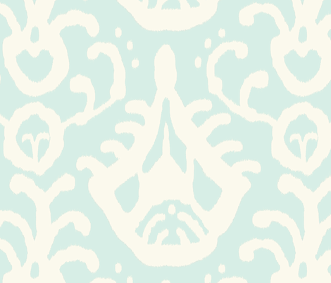 Ikat in Mint fabric by domesticate on Spoonflower - custom fabric