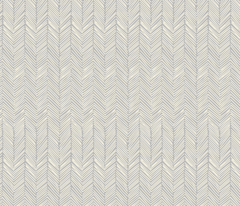 Freeform Arrows in cream on gray fabric by domesticate on Spoonflower - custom fabric