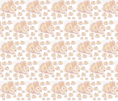 JamJax Funny Bunnies fabric by jamjax on Spoonflower - custom fabric
